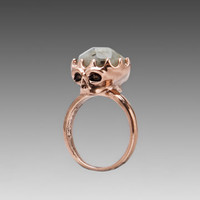 House of Harlow Stone Top Skull Cocktail Ring in Rose Gold from REVOLVEclothing.com