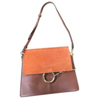 Leather handbag CHLOÉ Brown