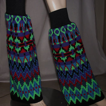 Upcycled Sweater Legwarmers Bootcovers Cyber Gothic Rave