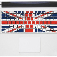 UK flag Keyboard Decal -- Apple Mac Keyboard Decal Mac vinyl Sticker Macbook Keyboard Decal Macbook Keyboard Stickers Keyboard Skin Cover
