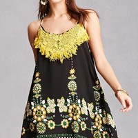 Velzera Fringed Floral Cami Dress