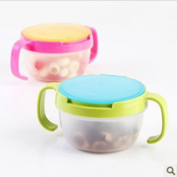 New Hot Infants Kid 360 Rotate Spill-Proof Bowl Dishes Tableware Baby Snack Bowl Food Container Feeding Children Assist Food