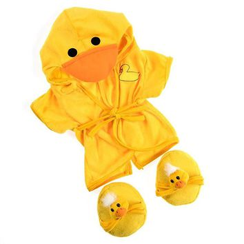 Duck Robe & Slippers Pajamas Outfit Teddy Bear Clothes Fit 14`` - 18`` Build-A-