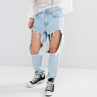 Boohoo | Boohoo Thigh Rip Jean at ASOS