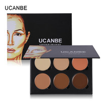 UCANBE Brand 6 Color Face Concealer Contour Cream Kit Highlight Palette Camouflage Corretivo Makup deep medium light Concealer