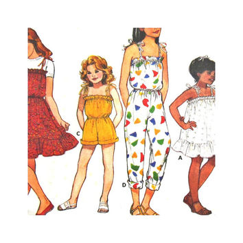 Butterick 3259 Uncut Pattern Girls Dress and Jumpsuit Size 4 5 6 Fast & Easy Classics