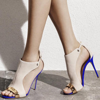 Cashmere Leather High Heels