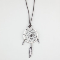 Blue Crown Dream Catcher Necklace Black/Silver One Size For Men 23264014501