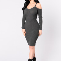 Worldly Known Dress - Charcoal