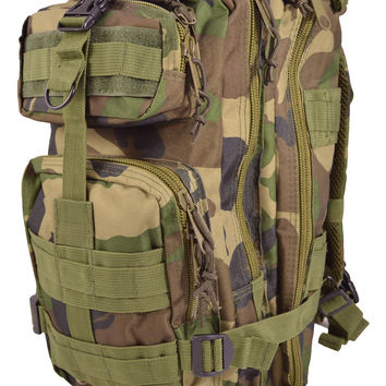 Jungle Camouflage Outdoor Hiking School Backpack Oxford Cloth Nylon