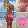 Sexy Women Swimwear Bikini Set Bandeau Push-Up Padded Bra Swimsuit Beachwear NEW = 1956628164