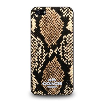 COACH NEW YORK SIGNATURE CITY iPhone 5 / 5S / SE Case Cover