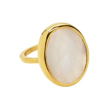 Large Oval Gold Bezel Ring