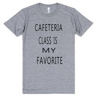 Cafeteria Class-Unisex Athletic Grey T-Shirt