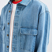 UO Heavyweight Denim Button-Down Over Shirt - Urban Outfitters