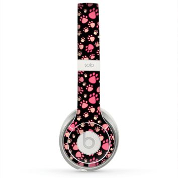 The Cut Pink Paw Prints Skin for the Beats by Dre Solo 2 Headphones