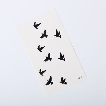 1pcs Wrist Fake Tattoo Birds Design Waterproof Temporary Tattoo Sticker For Body Art Women Flesh Tattoos