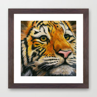 Lonely Tiger Framed Art Print by Kathleen Wong