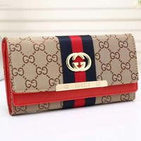 Gucci Trending Casual Women Leather Multicolor Purse Wallet G
