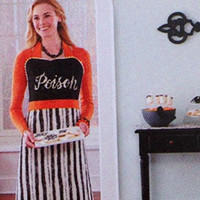 Halloween Novelty Kitchen Apron Costume (Women's Poison (1 Size Fits Most))