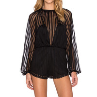 Alice McCall Something To Talk About Romper in Black