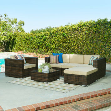 The-Hom Aria 6 Piece Seating Group with Cushions