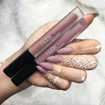 Lip Huda Beauty Liquid Matte Lipstick, Lip Gloss, Makeup Lip Stick C