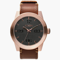 Nixon The Corporal Watch Rose Gold/Gunmetal/Brown One Size For Men 25570238101