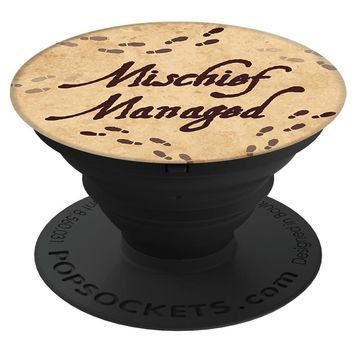 Brave New Look Footprints Mischief Managed Pop Sockets Stand for Smartphones and Tablets