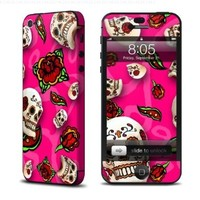 Pink Scatter Design Protective Decal Skin Sticker (Matte Satin Coating) for Apple iPhone 5 16GB 32GB 64GB Cell Phone