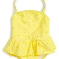 kate spade new york ruffle eyelet one-piece swimsuit (Baby Girls) | Nordstrom