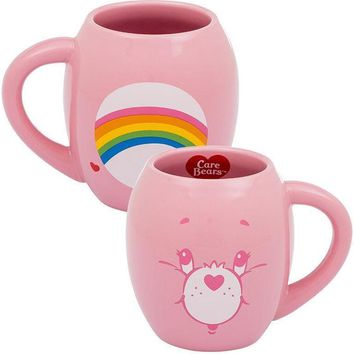 Care Bears Cheer Bear Oval Ceramic Coffee Mug - PRE-ORDER, SHIPS IN JULY