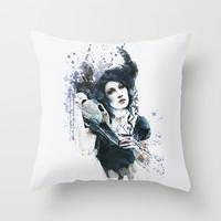 Reminders  Throw Pillow by Galen Valle