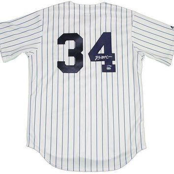 ESBONY Brian McCann Signed Autographed New York Yankees Baseball Jersey (MLB Authenticated)