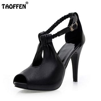 size 30-43 woman ankle strap high heel sandals new arrival hot sale Fashion office summer women casual women shoes P19266
