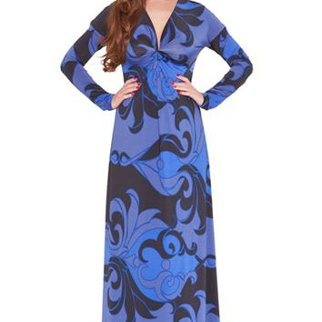 Women's Olian 'Katherine' Print Maternity Maxi Dress,