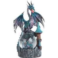Blue Dragon on Castle Snow Globe - 05-71503 by Medieval Collectibles