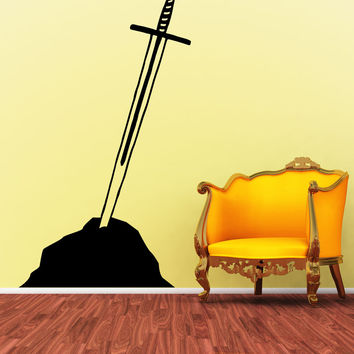 Vinyl Wall Decal Sticker Sword in the Stone #OS_MB857