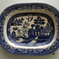 Vintage Blue Willow by hilltopcottage on Etsy