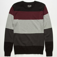 Retrofit Park City Mens Sweater Burgundy  In Sizes