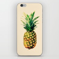 Golden pineapple iPhone & iPod Skin by Yilan
