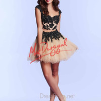 Lace Two Piece Mac Duggal Prom Dress 10016M