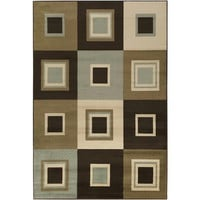 Area Rug - 2' X 3' - Colors Include Dark Chocolate, Raw Umber,doe Skin,lily Pad Green,espresso And Parchment