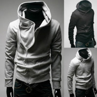 Mens Long Sleeve Cotton Blends Hoodies [10312516163]