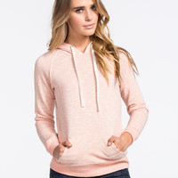 Full Tilt Womens Essential Marled Hoodie Peach  In Sizes
