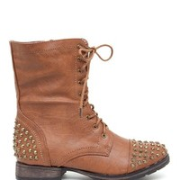 A'GACI Georgia 28 Stud Trim Combat Boot - BACK IN STOCK
