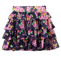 SO Floral Tiered Skirt - Girls 7-16