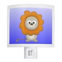 cute little lion on ombre background