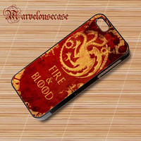 Fire and Blood Targaryen Game of Thrones custom case for all phone case