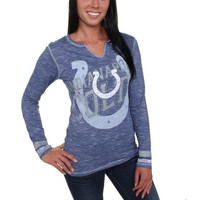 Indianapolis Colts Majestic Women's Gametime Gal V-Neck Long Sleeve T-Shirt – Royal Blue